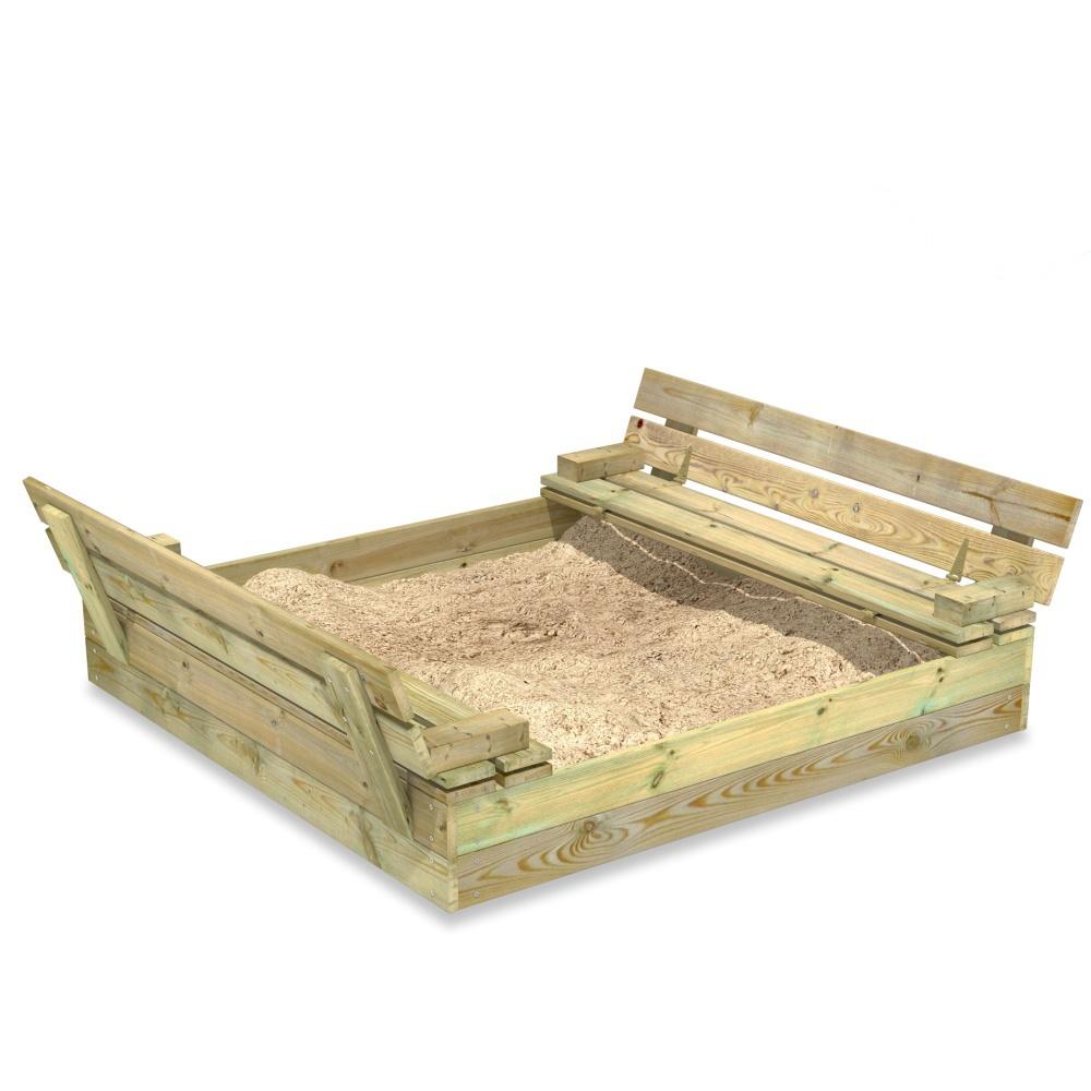 Abbildung von Fatmoose Sandkasten SandSeat mit Klappdeckel in zwei Größen erhältlich